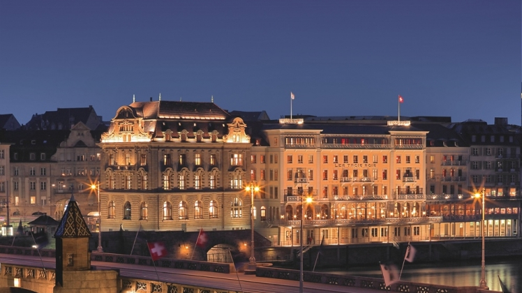 An icon in Basel: Grand Hotel Les Trois Rois, an Art déco style hotel